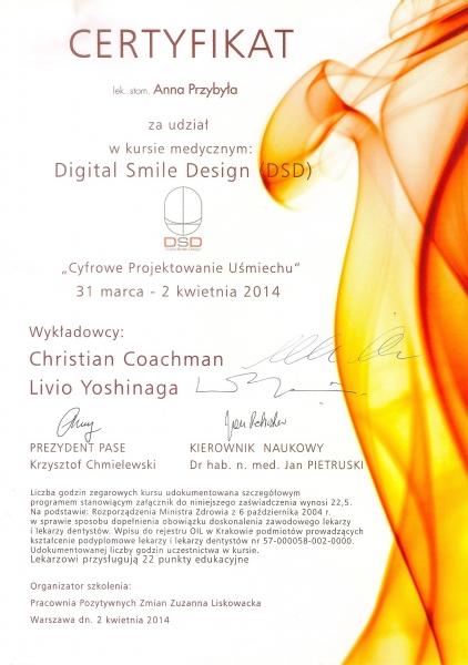 Anna Przybyla, DSD cyfrowe projektowanie usmiechu