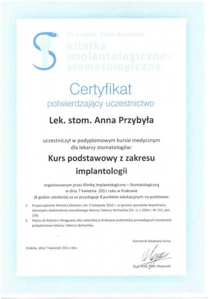 Anna Przybyla, implantologia 2  copy