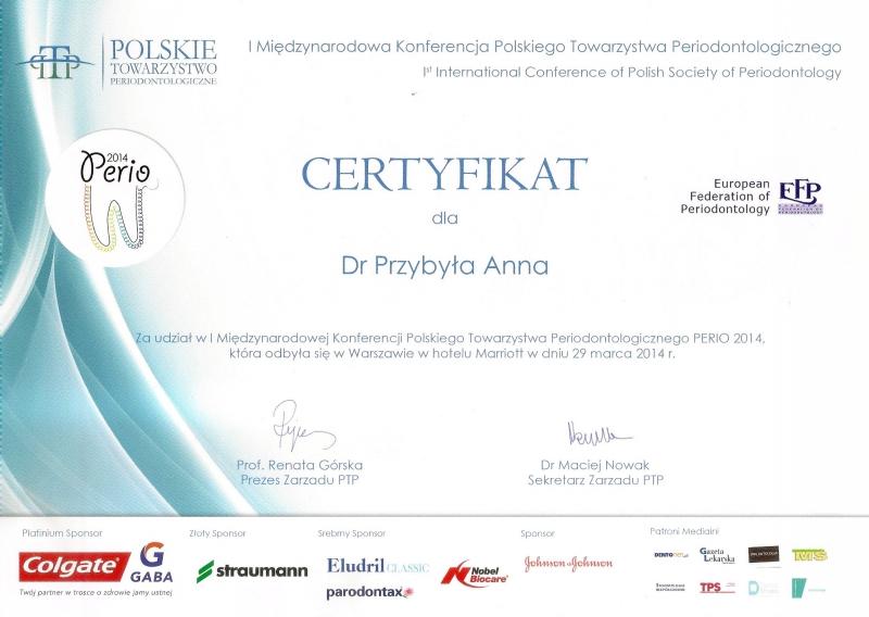 Anna Przybyla, periodontologia