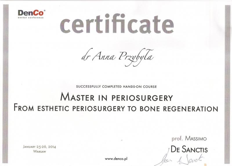 Anna Przybyla, stomatologia estetyczna