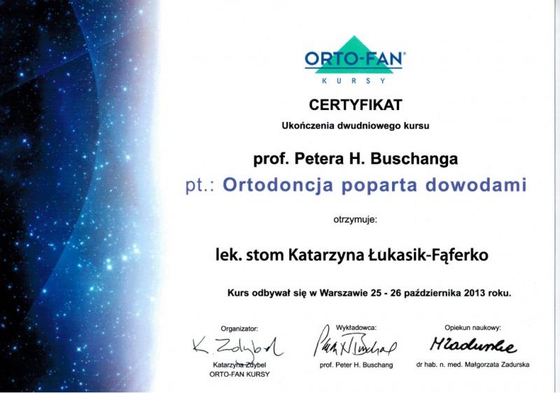 Katarzyna Lukasik-Faferko, ortodoncja 13