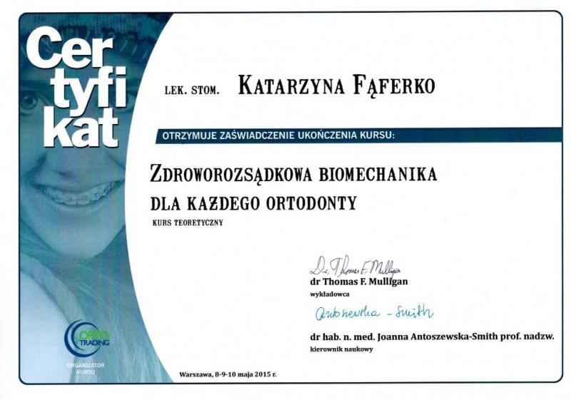 Katarzyna Lukasik-Faferko, ortodoncja 2
