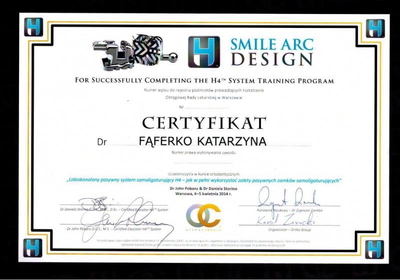 Katarzyna Lukasik-Faferko, ortodoncja 3