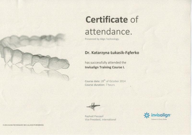 Katarzyna Lukasik-Faferko, ortodoncja 5