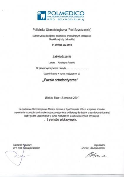 Katarzyna Lukasik-Faferko, ortodoncja 8