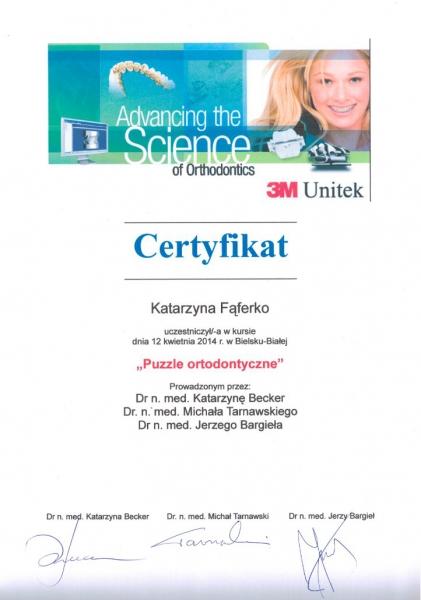 Katarzyna Lukasik-Faferko, ortodoncja 9