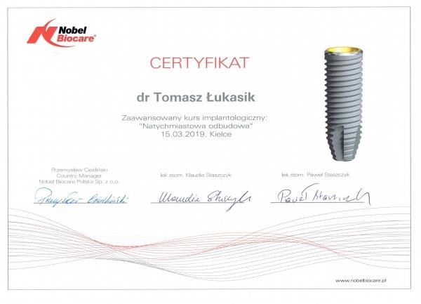 Tomasz Łukasik - Natychmiastowa odbudowa
