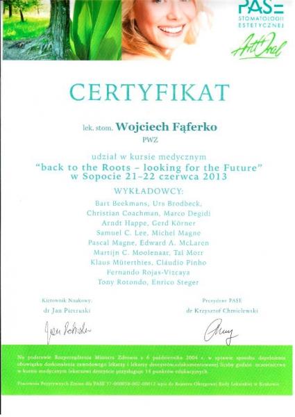 Wojciech Faferko, stomatologia estetyczna 1