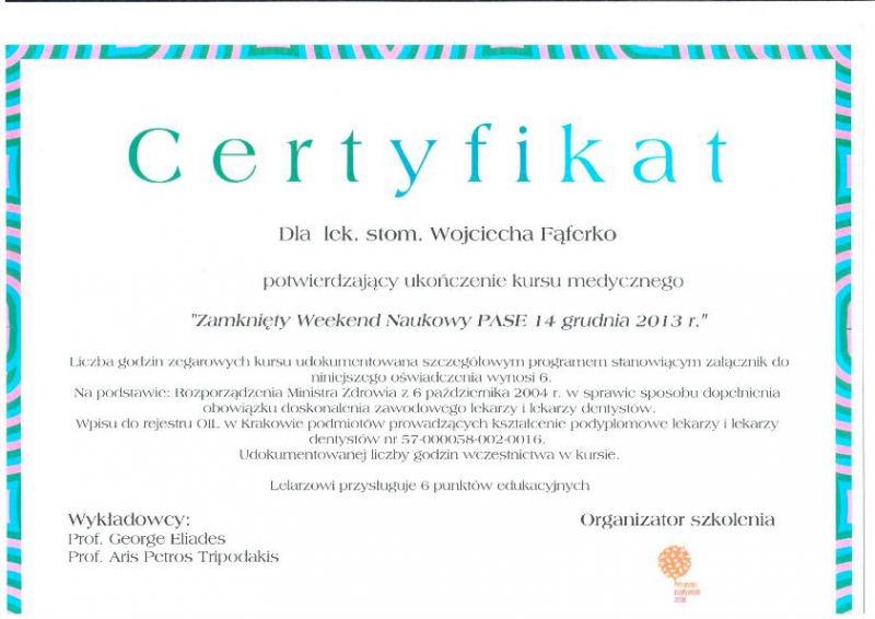 Wojciech Faferko, stomatologia estetyczna 2