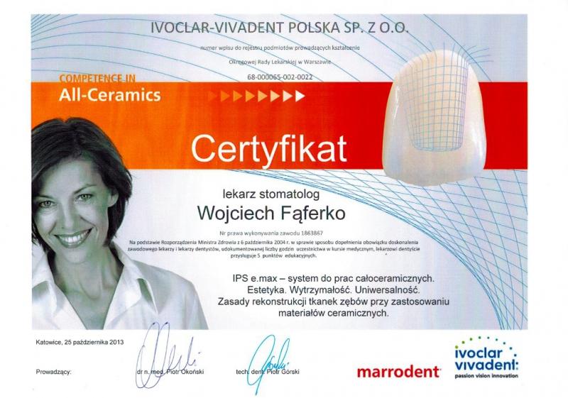 Wojciech Faferko, stomatologia estetyczna 3
