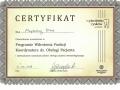 Certyfikat - Magda Blaut