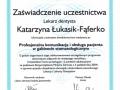 Katarzyna Lukasik-Faferko, obsługa pacjenta