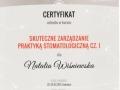Natalia Wiśniewska - certyfikat