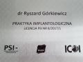 Ryszard Górkiewicz - praktyka implantologiczna