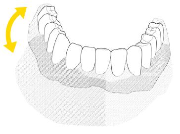 wady proteza zębów całkowita akrylowa