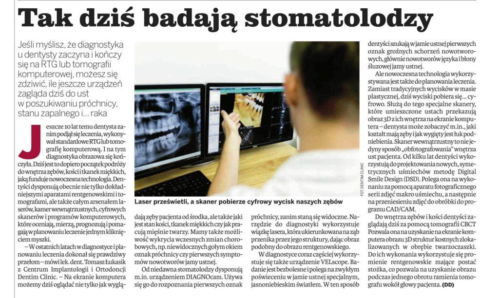 gazeta krakowska informator medyczny 2017 09 29 tak dzis badaja stomatolodzy  jpg bn 1
