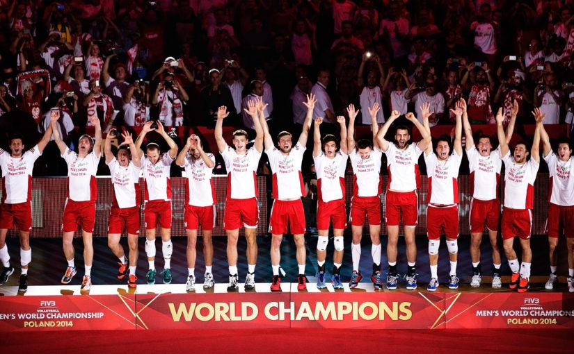 2014 - Polacy zostają Mistrzami Świata w siatkówce pokonując w wielkim finale Brazylię w Katowicach